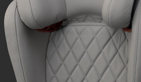 Leder Kindersitz gesteppt -handarbeit - Bolder Kids - Leder Kindersitze handgefertigt
