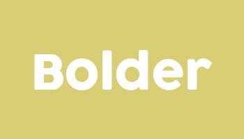 Typ 1 Bolder Kids Logo - Beispiel Stickerei auf Kindersitz aus Nappaleder