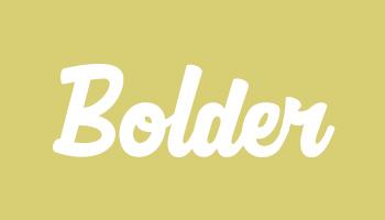 Typ 3 Bolder Kids Logo - Beispiel Stickerei auf Kindersitz aus Nappaleder